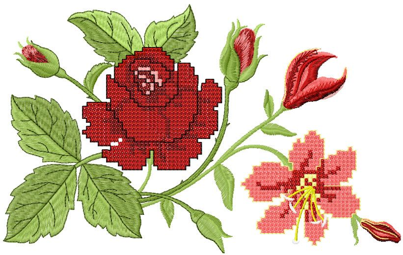 Big Rose Free Embroidery Design Flowers Free Machine Embroidery