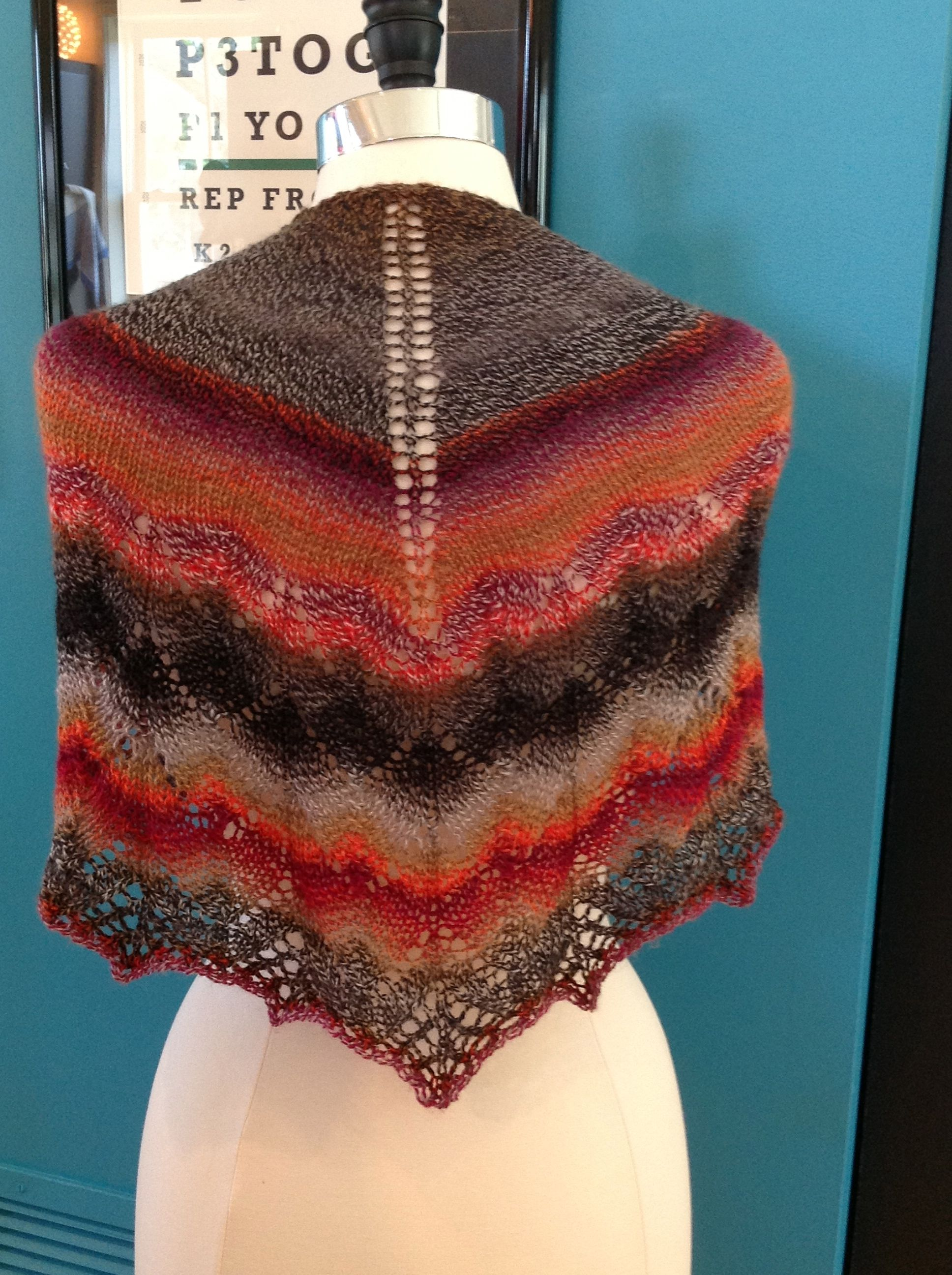 Traveling Woman Shawl in Schoppel Wolle Zauberball Crazy ...