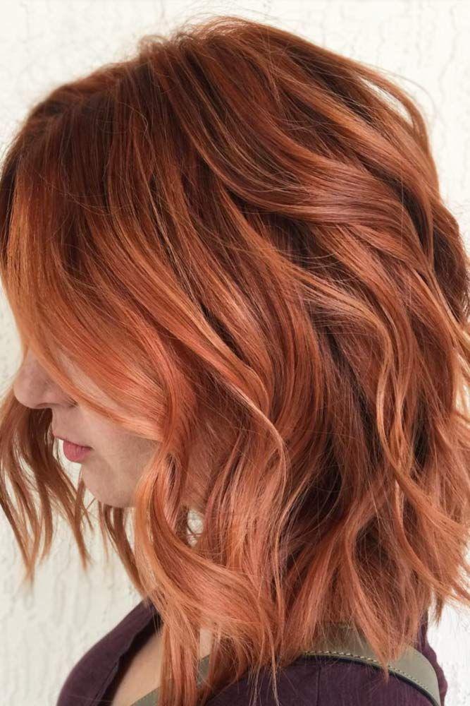 18 Medium Length Hairstyles For Thick Hair Hair Styles Hair Color Auburn Hair Inspiration Color