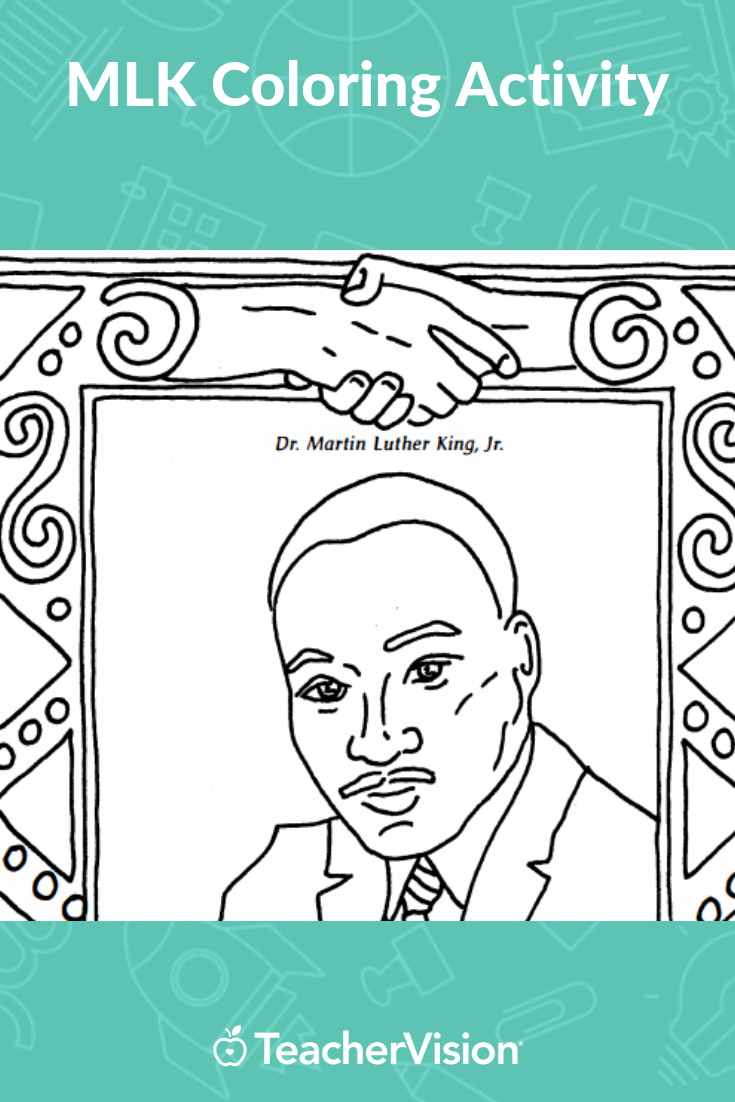 Martin Luther King Jr Coloring Page Black History Month Printable Grades K 5 Martin Luther King Pictures Martin Luther King Jr Martin Luther King