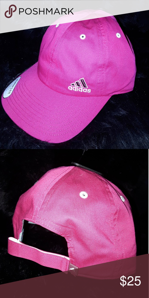 1327344a7c7 New👍adidas Cap!! Great hot pink! Adjustable! adidas Accessories ...