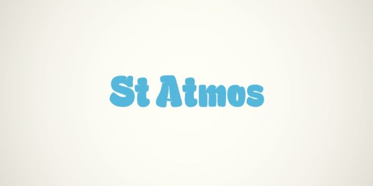 St Atmos™ font download   Fonts   Fonts, Premium fonts, Saints