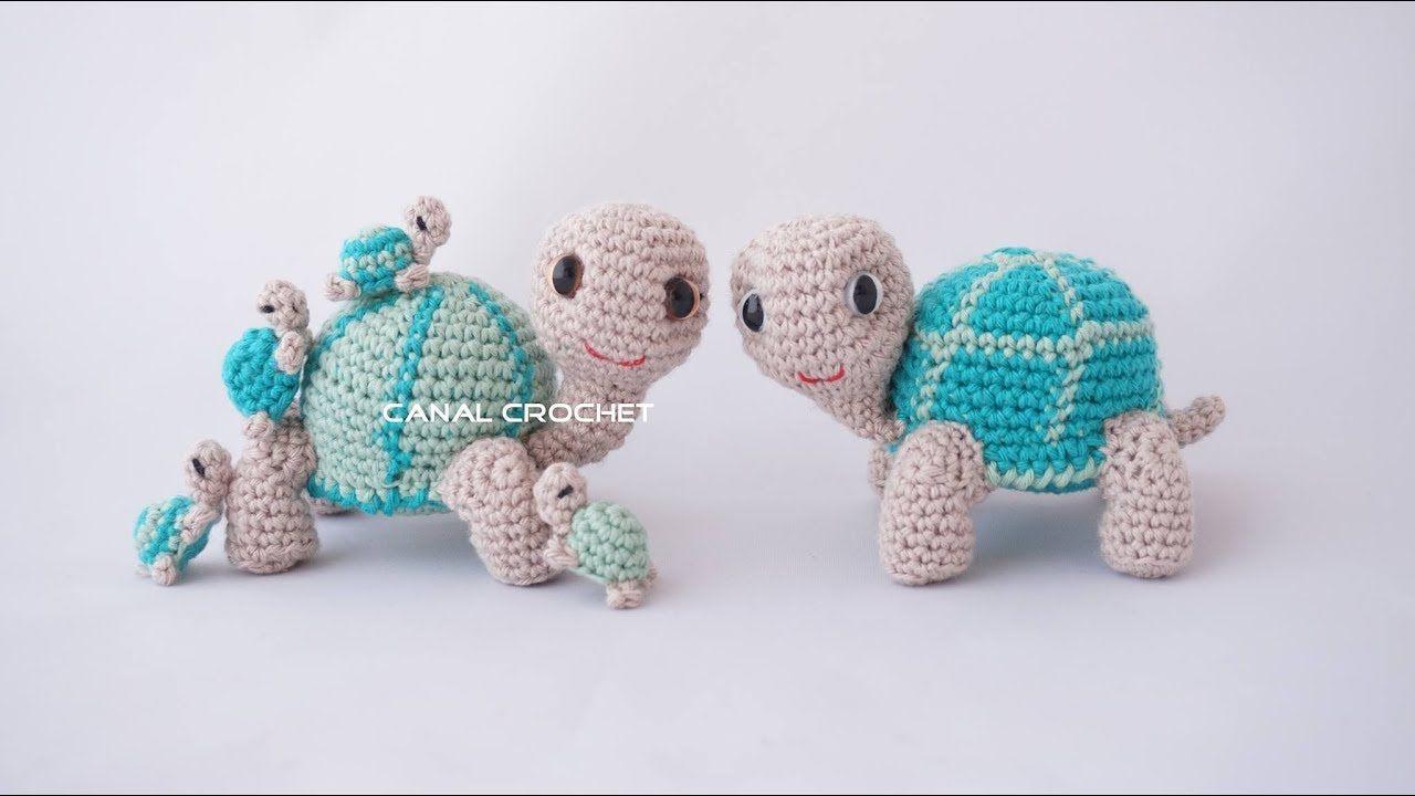 Tortuga y tortuguitas amigurumi tutorial | animalitos | Pinterest ...