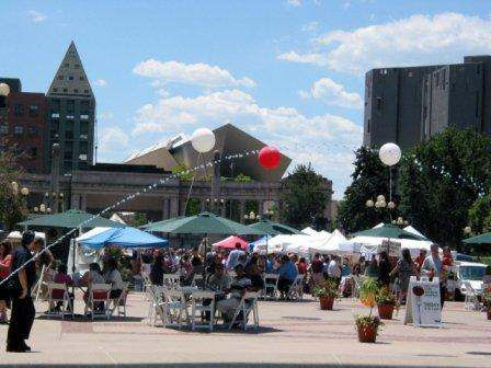 Tuesday is Market Day at Civic Center Eats in Denver, Colorado 11am - 2pm  http://www.farmersmarketonline.com/fm/CivicCenterEats.html