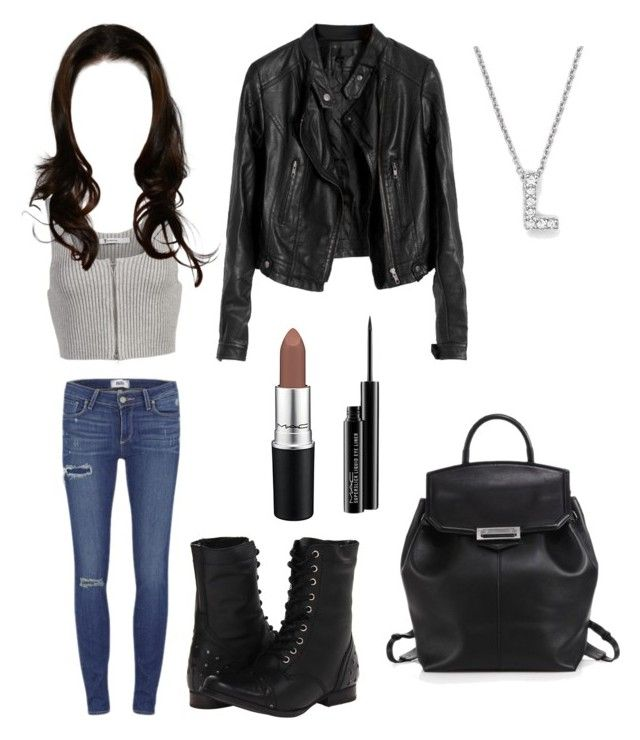 """Outfit_13"" by star25cruz on Polyvore featuring Naughty Monkey, Paige Denim, Alexander Wang, T By Alexander Wang, Roberto Coin and MAC Cosmetics"