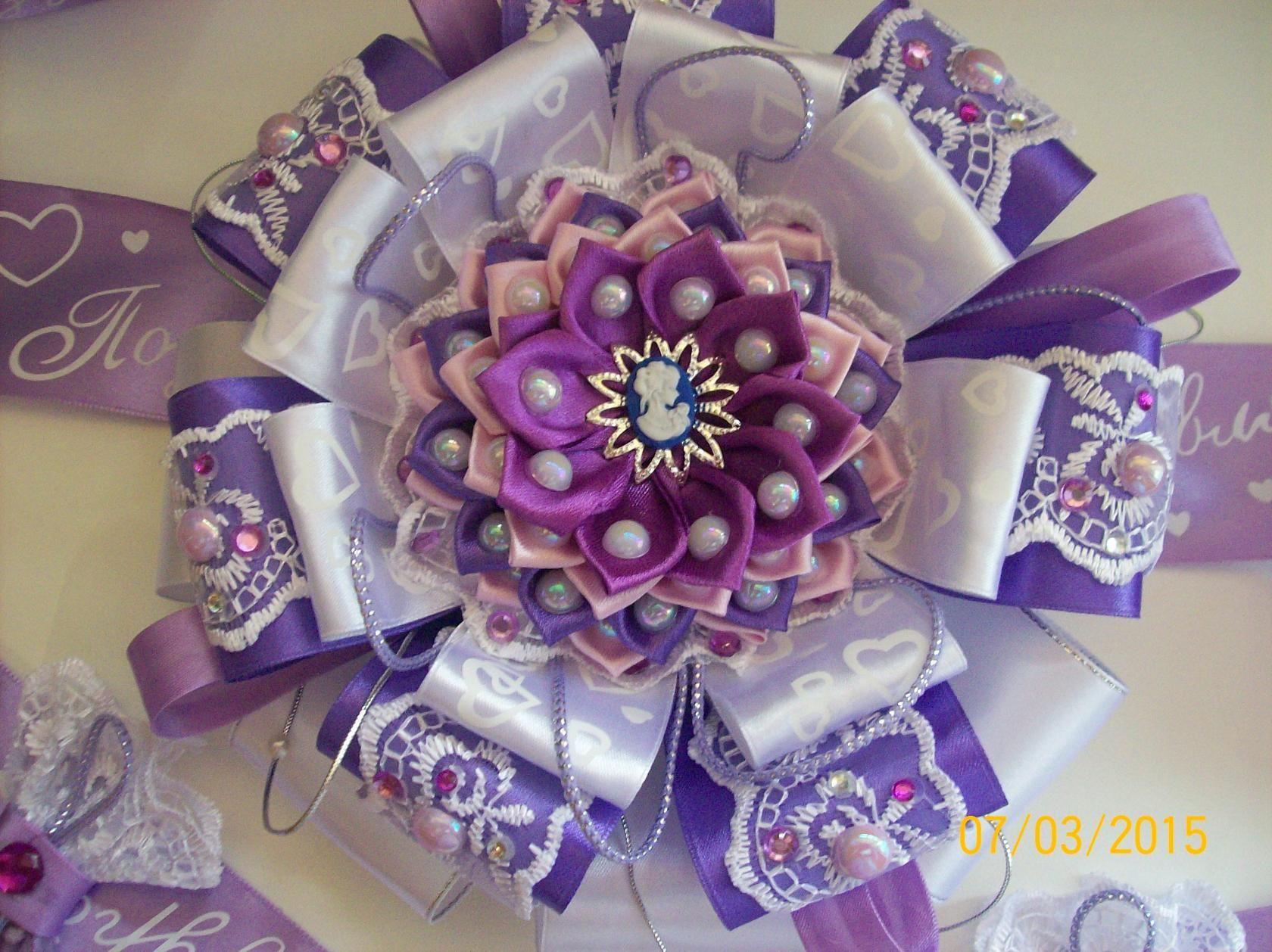 банты из лент на свадьбу
