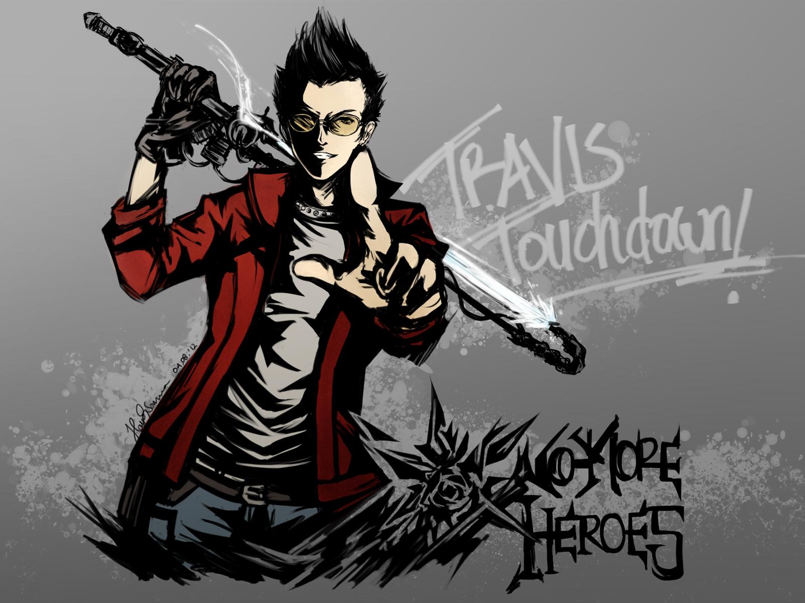 Travis Touchdown Haya Pixiv Hero Games Hero New Trailers