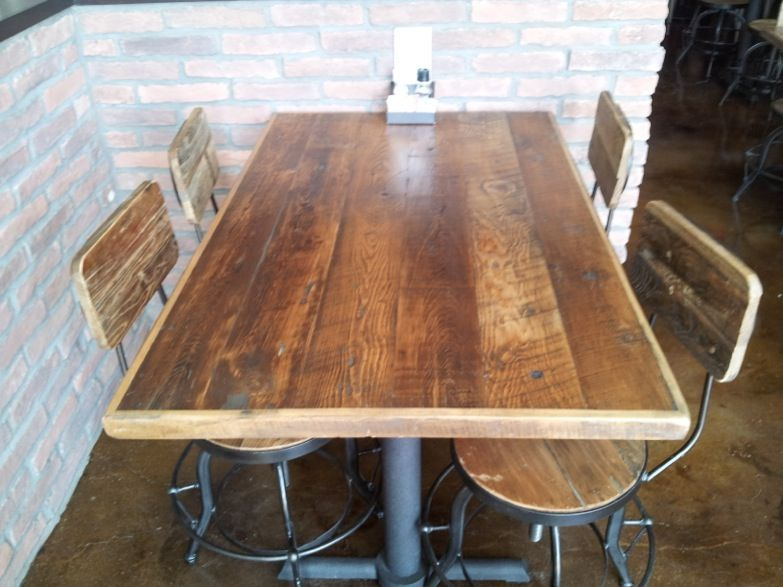 Reclaimed Wood Table Top with Straight Planks available in many sizes from  Restaurant and Cafe Supplies - Reclaimed Wood Table Top With Straight Planks Available In Many