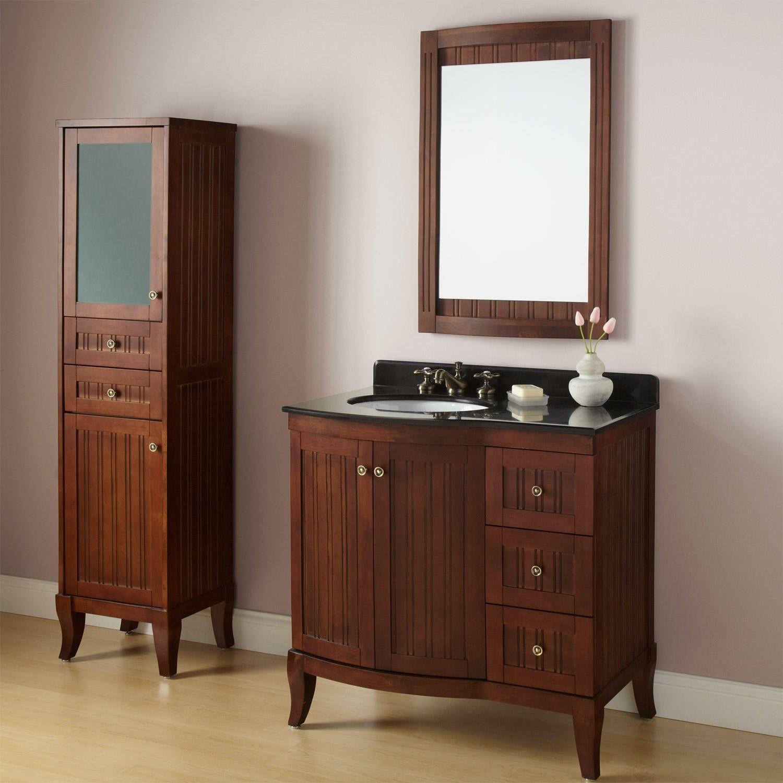 36 Quot Palmetto Brown Cherry Vanity Bathroom Furniture Decor Furniture