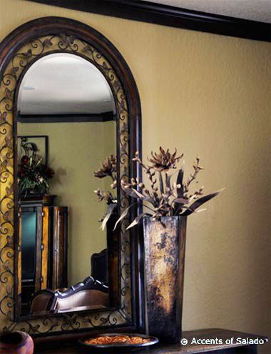 Tuscan Floor Mirror Tall Mirrors Are Used Above