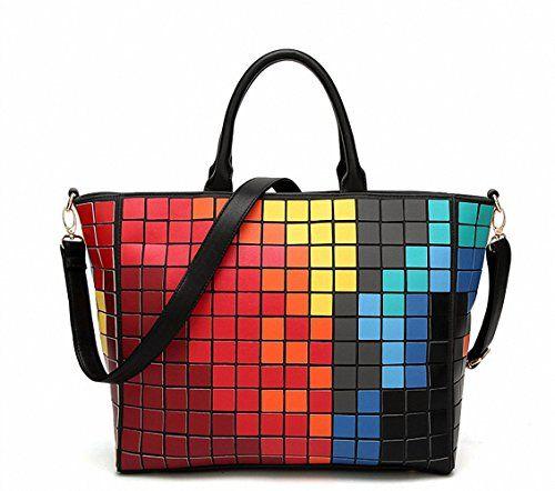 737792579991 Xiangliy Geometric Mosaic Women bag diamond folding Messenger bag New  female shoulder bags ladies handbags