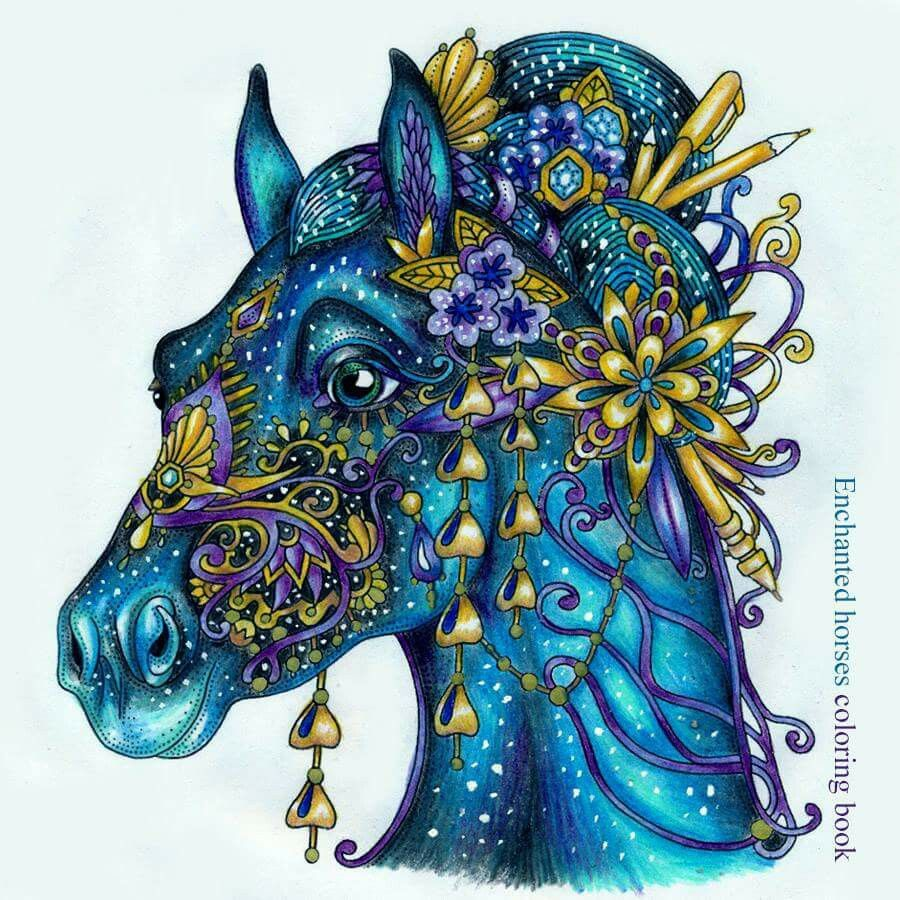 Colouring Art Ideas Horses Book