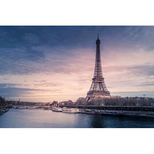 East Urban Home Mattes Paneel Eiffel Tower River | Wayfair.de #eiffeltower