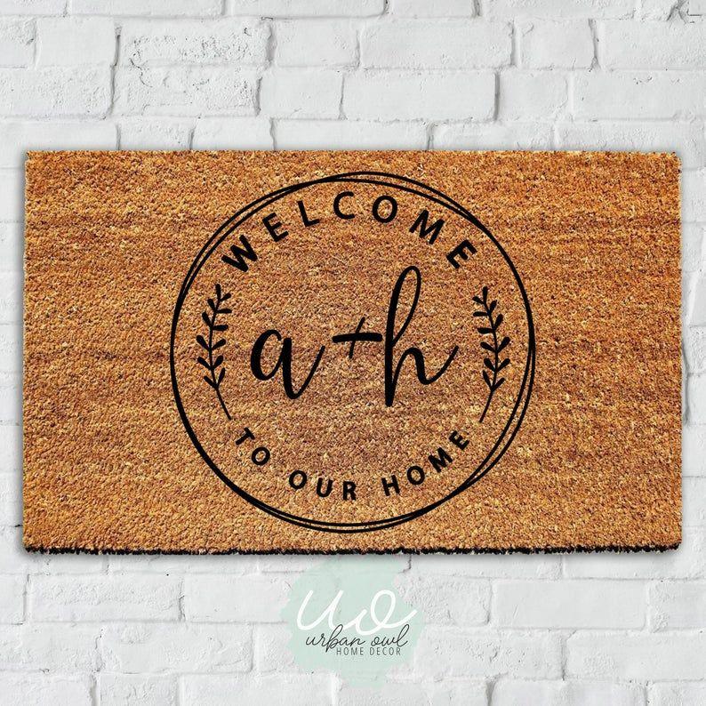 Custom Doormat Housewarming Gift Wedding Gift Idea Custom Doormat Door Mat Personalized Door Mats