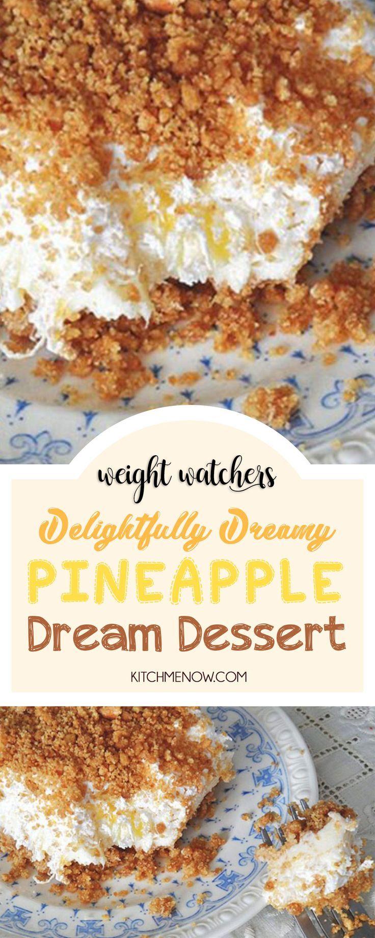 Menu De Noel Weight Watchers.Delightfully Dreamy Pineapple Dream Dessert Weightwatchers