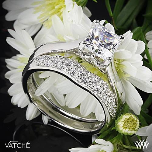 """510993cfb4a597 Magnificently crafted, the Vatche 'Royal Crown for Princess' Diamond  Wedding Set are a sensational duo. The Vathce """"Royal Crown for Princess""""  Solitaire ..."""