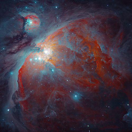 Dust of Orion Nebula (ESO 2.2m telescope)