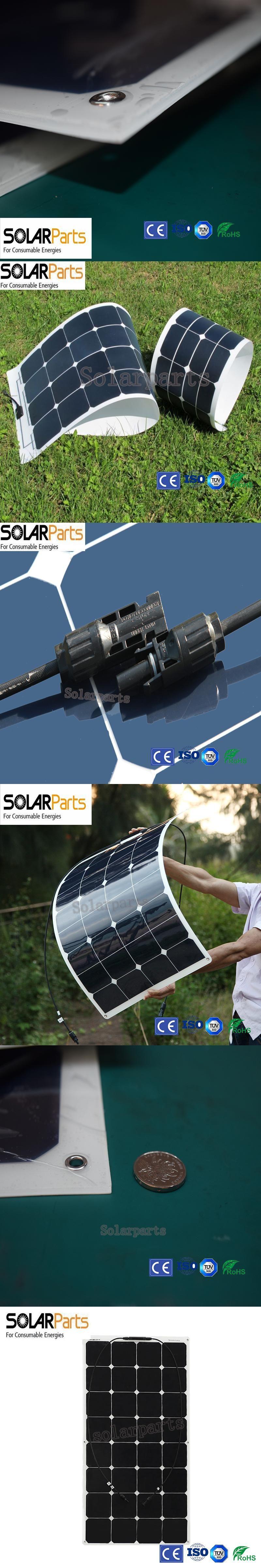 solarparts 1pcsx100w factory cheap 12v flexible pv solar panel cell