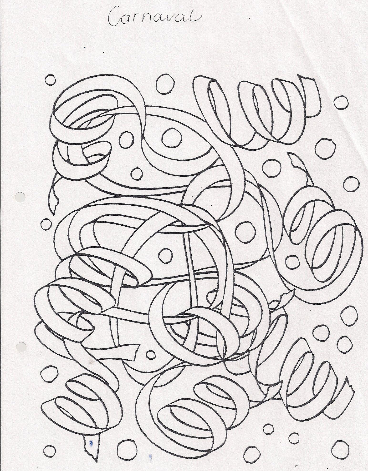 Serpentines Serpentines Tekenen Carnaval