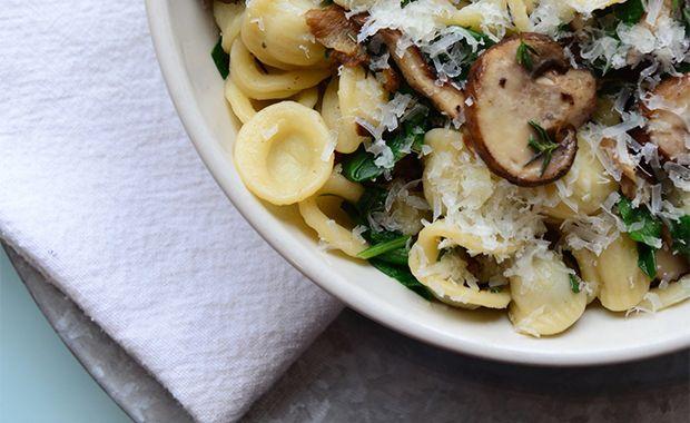 Athlete Food: Roasted Mushrooms with Pasta #athletefood