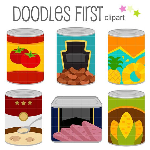 46++ Canned food items clipart information