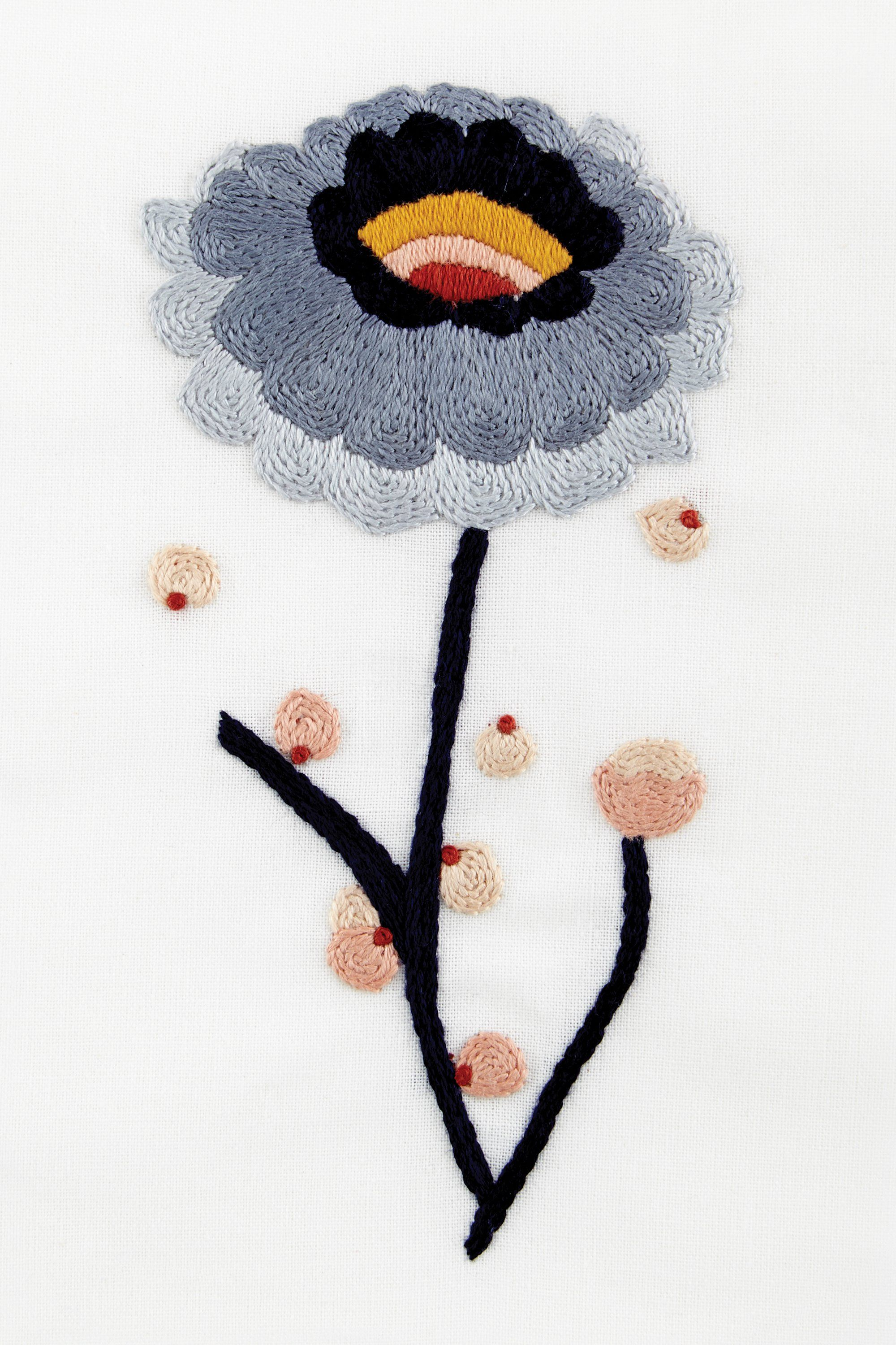 Flower power dalia - diseño | Embroidery | Pinterest | Bordado ...