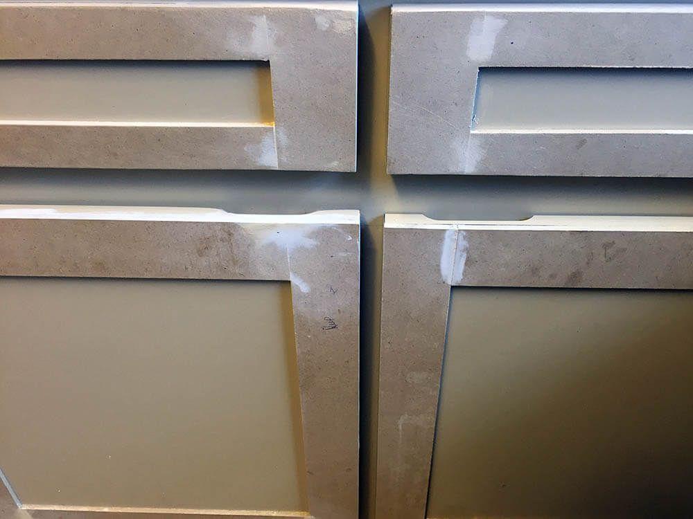 Diy Shaker Cabinet Door Close Up Of Sanding Best Home Improvements