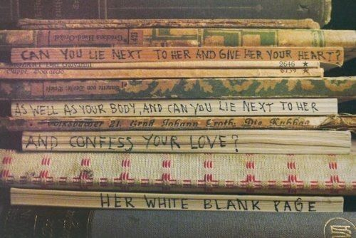 white blank page- Mumford and Sons. fave song