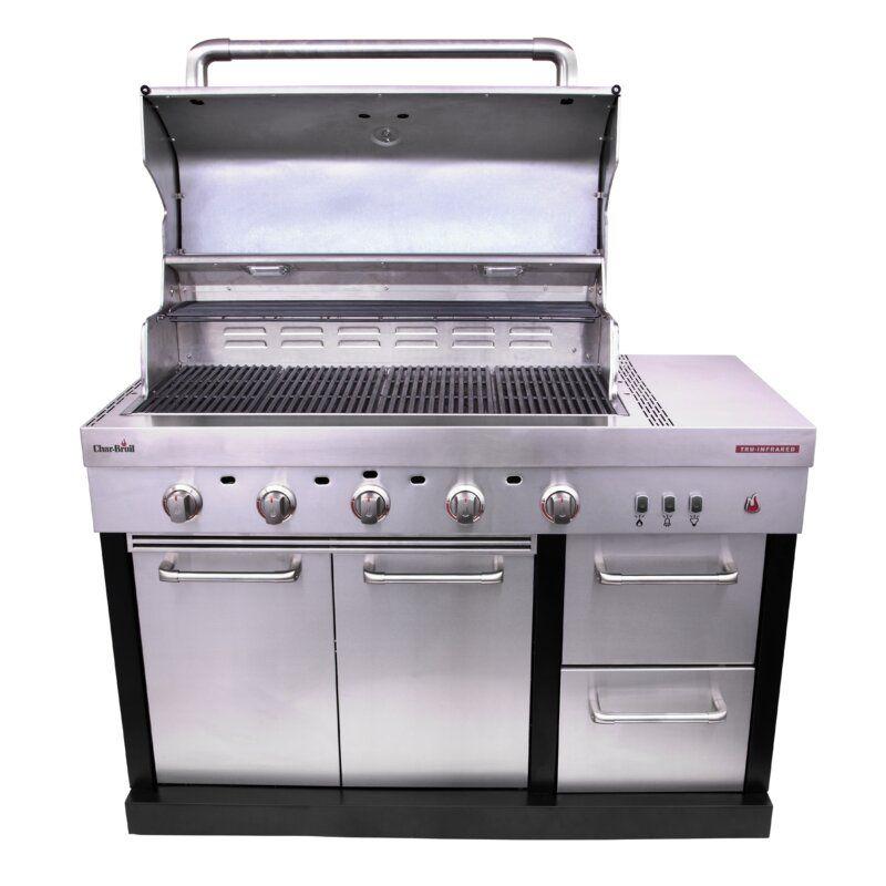 Charbroil Medallion Series 5 Burner Propane Gas Grill Wayfair In 2020 Modular Outdoor Kitchens Propane Gas Grill Gas Grill