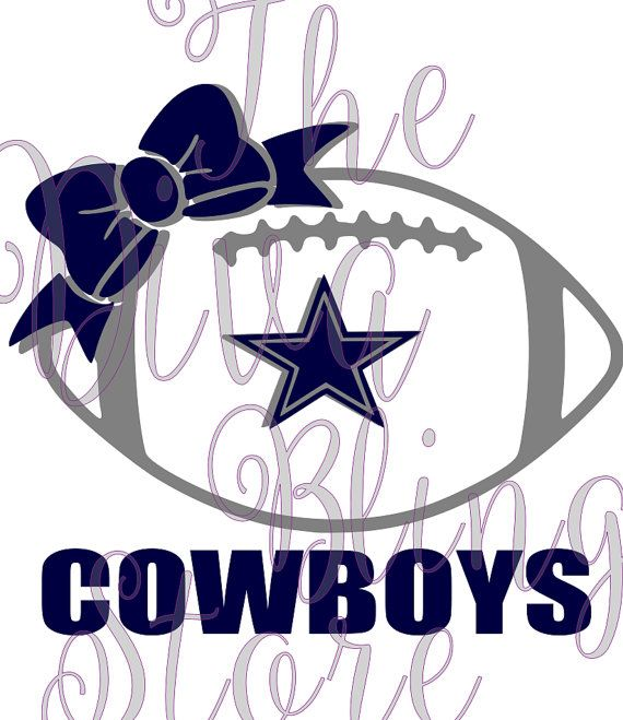Dallas Cowboys Football With Bow Svg File Dallas Cowboys Shirts Dallas Cowboys Tattoo Cowboys Football