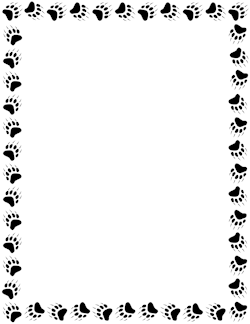 Free Animal Borders Paw Print Clip Art Borders For Paper Page Borders