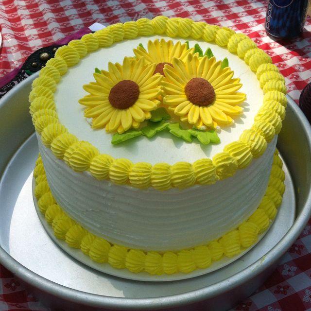 Sunflower Cake Sunflower Cakes Pastel Cakes Cake Icing Tips