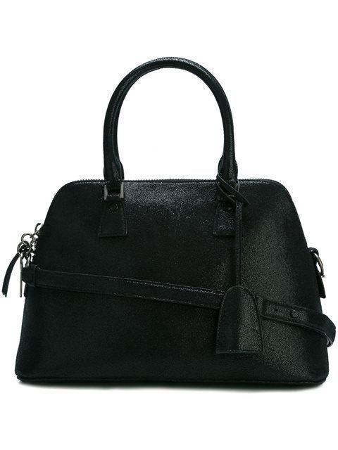 Maison Margiela Woman Metallic Coated Faux Leather Shoulder Bag White Size Maison Martin Margiela g9H8yj