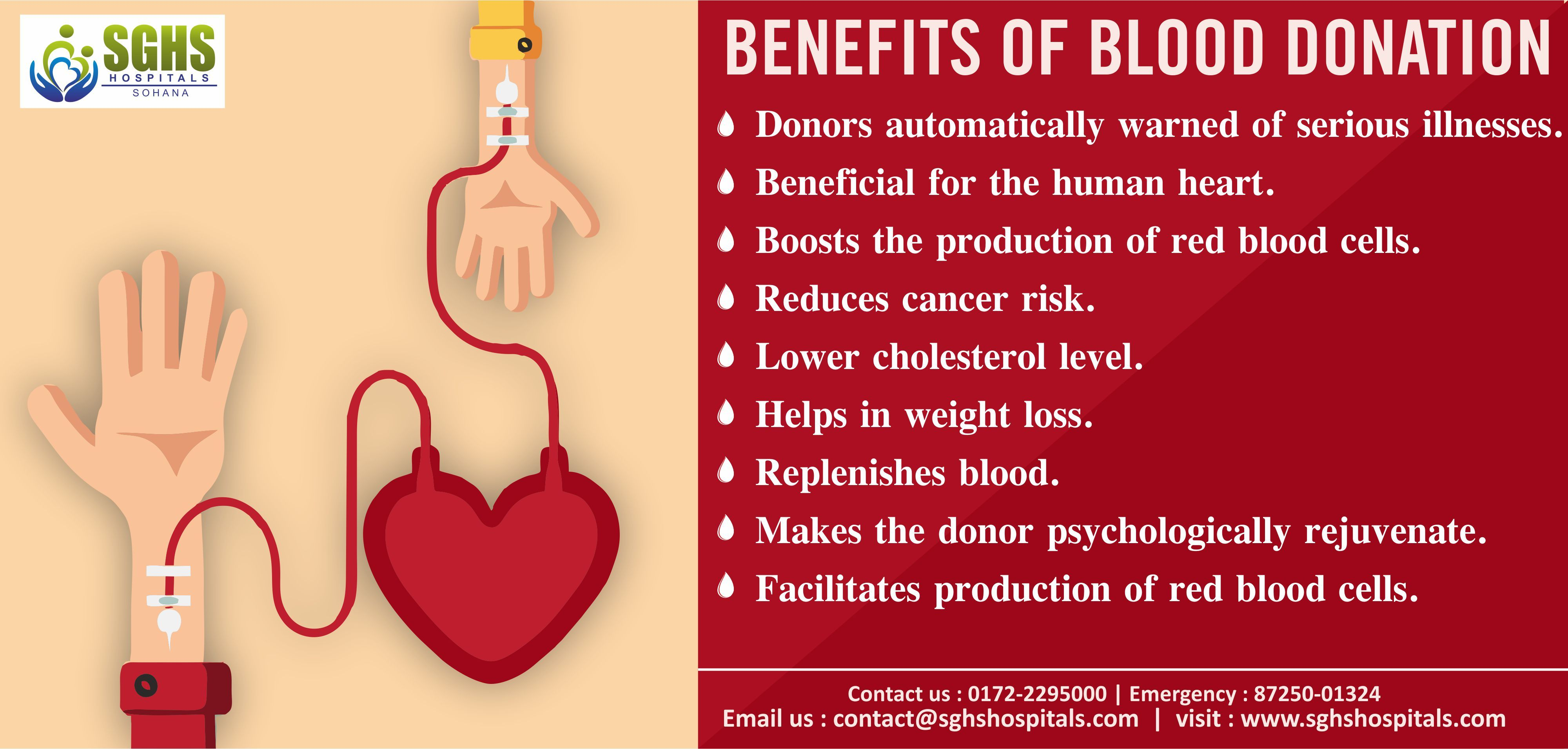 the benefits of donating blood The miller-keystone blood center says that consistent blood donation associated with lower risks of cancers including liver, lung, colon, and throat cancers due to the reduction in oxidative stress when iron is released from the bloodstream.