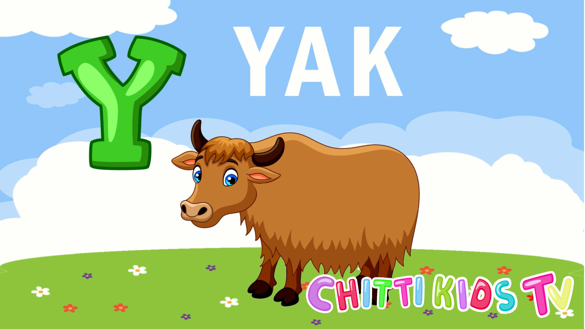 Animal Names Start With Alphabet Letter Y Animation For Kids By