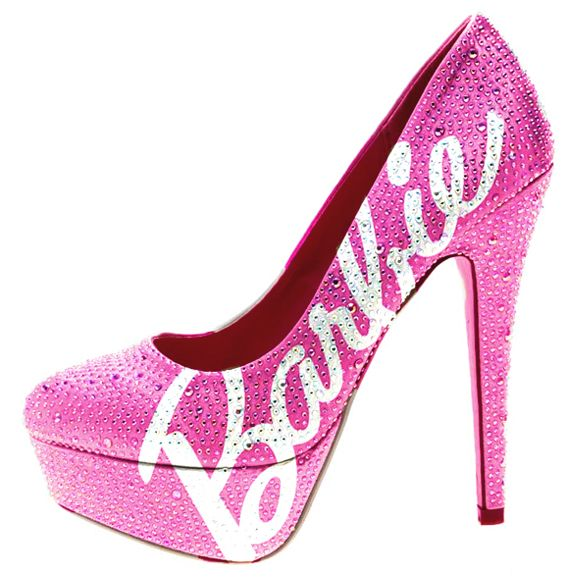 Pink High Heel Shoes - Qu Heel
