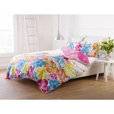 Esprit Summer Bloom Quilt Cover Set Multicoloured Queen