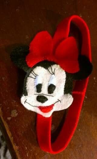 Diadema para bebé con Minnie Mouse