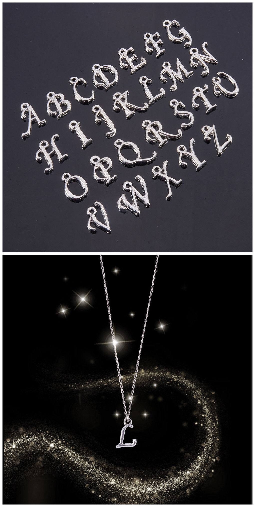 Pandahall Elite 208pcs Assorted Alloy Alphabet Charm Pendant Loose Beads Silver Plated A Z Letter Pendant For Jewelry Making 8 Pcs For Each Letter Beebeecraft Letter Pendants Charm Pendant Jewelry