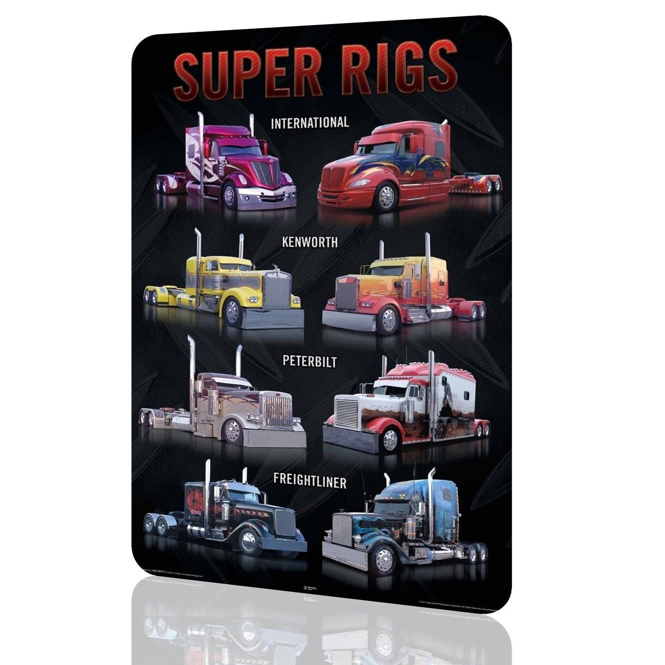 metal sign kenworth trucks super rigs poster classic