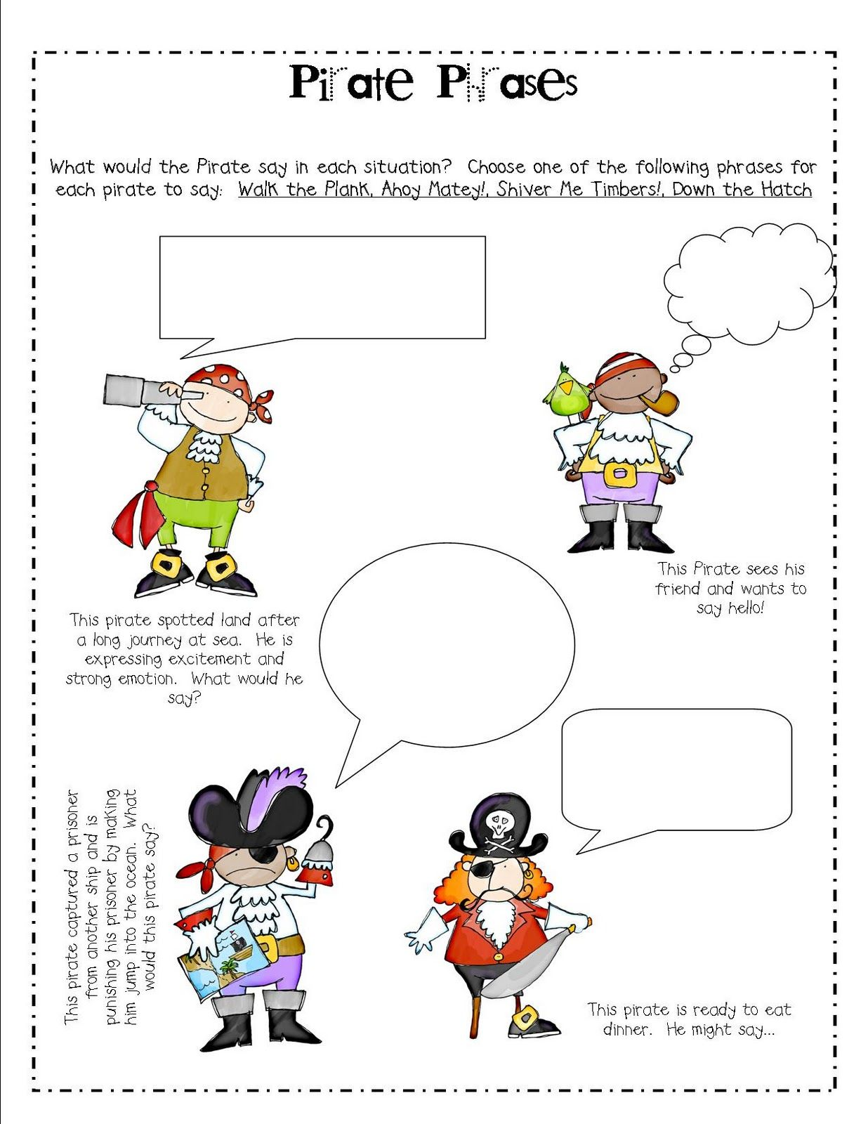 Pirate Worksheets For Kindergarten Justreed Ashley