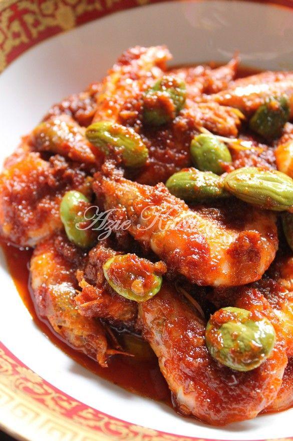 Sambal Petai Udang : sambal, petai, udang, Kitchen:, Sambal, Tumis, Udang, Petai, Juita, Malaysian, Food,, Malay