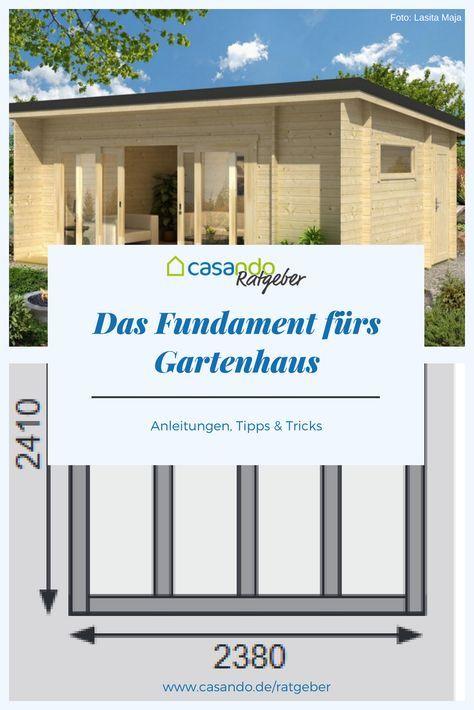 Fundament für das Gartenhaus (2020) Gartenhaus
