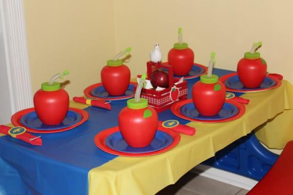 Disney Princess Snow White Girl 4th Birthday Party Planning Ideas
