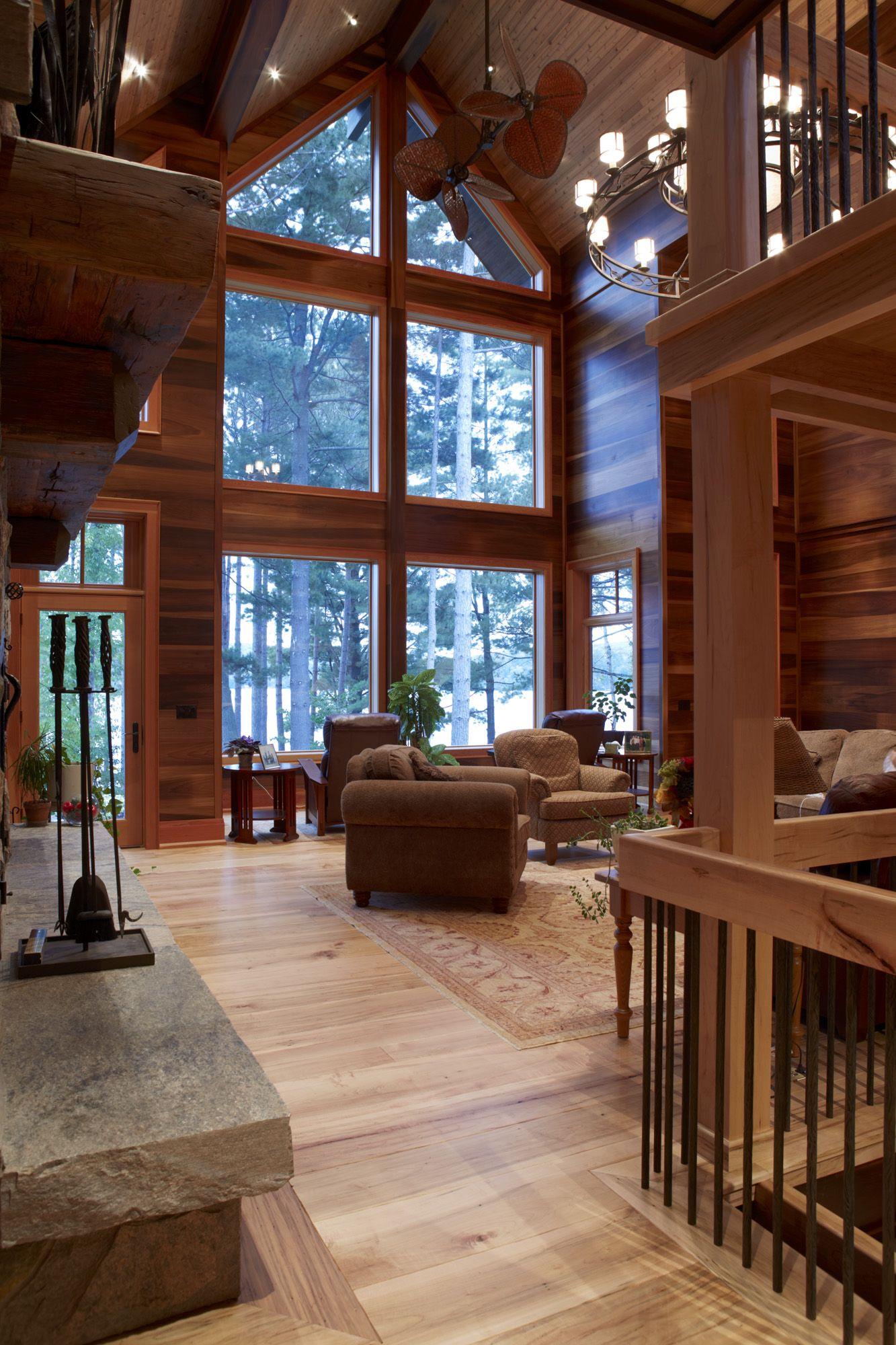 Love The Windows Cedar Homes Lindal Cedar Homes Rustic Home Design