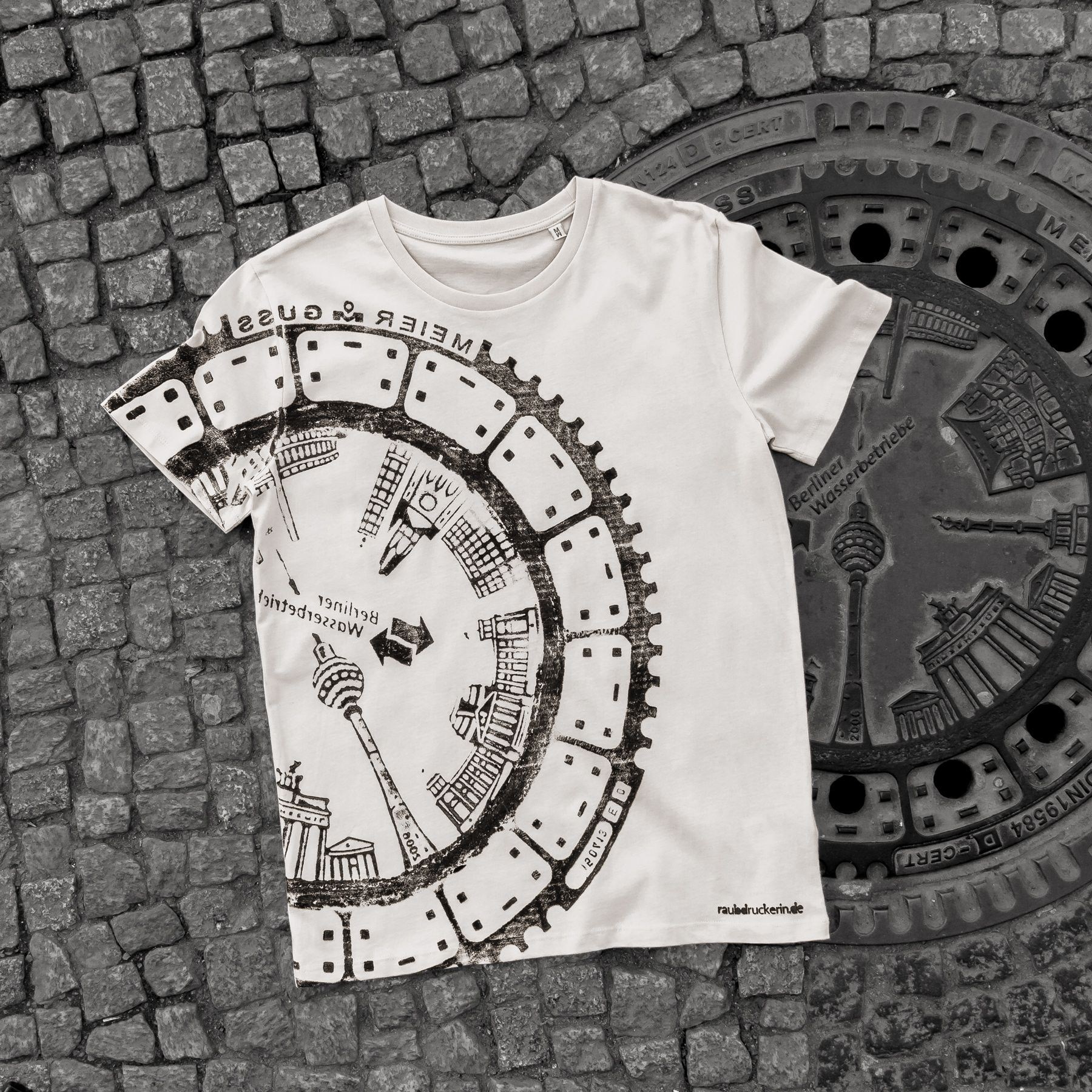 Berlin Mitte T Shirt Shirt Drucken Drucken Gullideckel