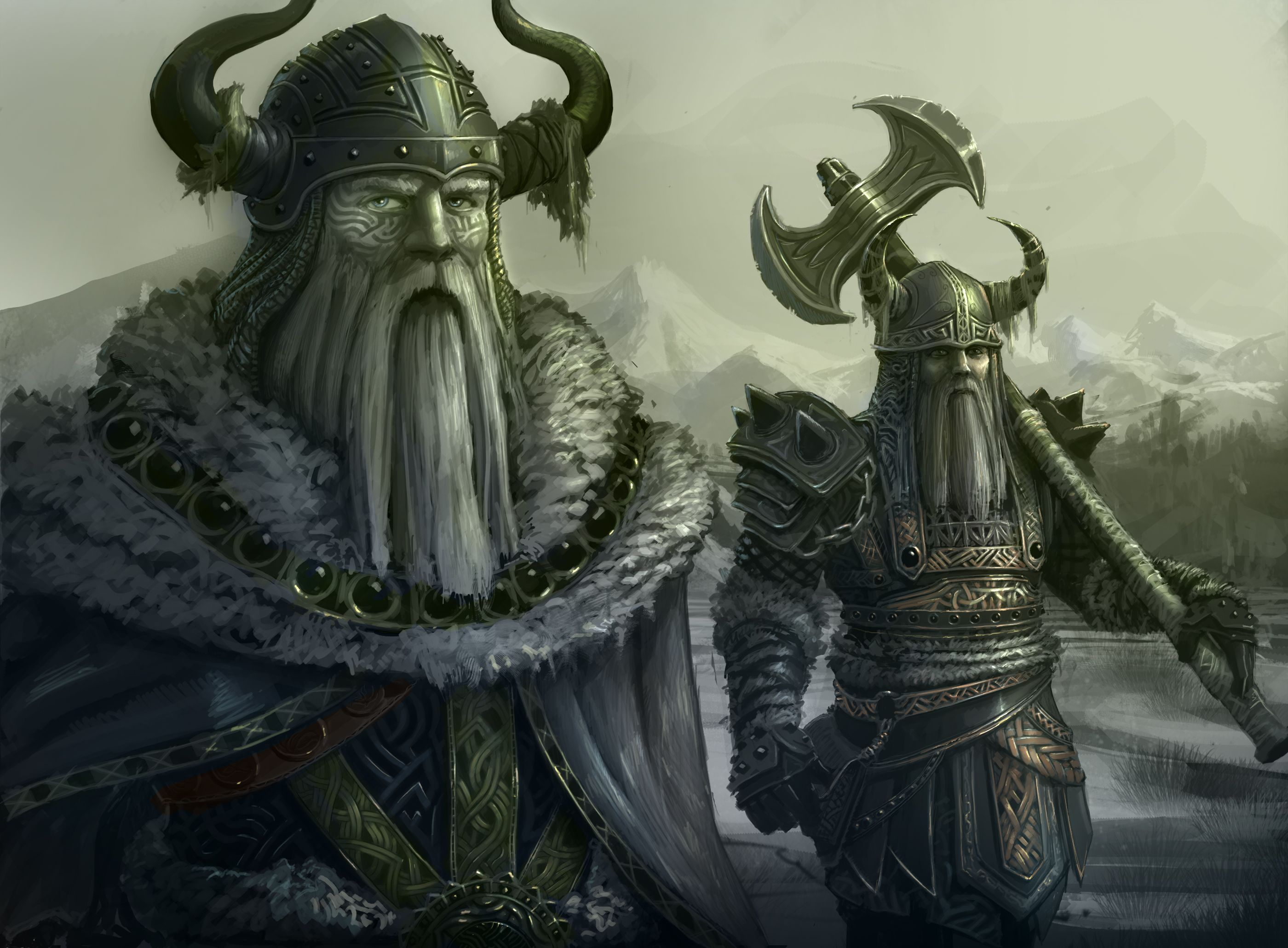 viking warriors fantasy art wallpaper 2800x2060 41530