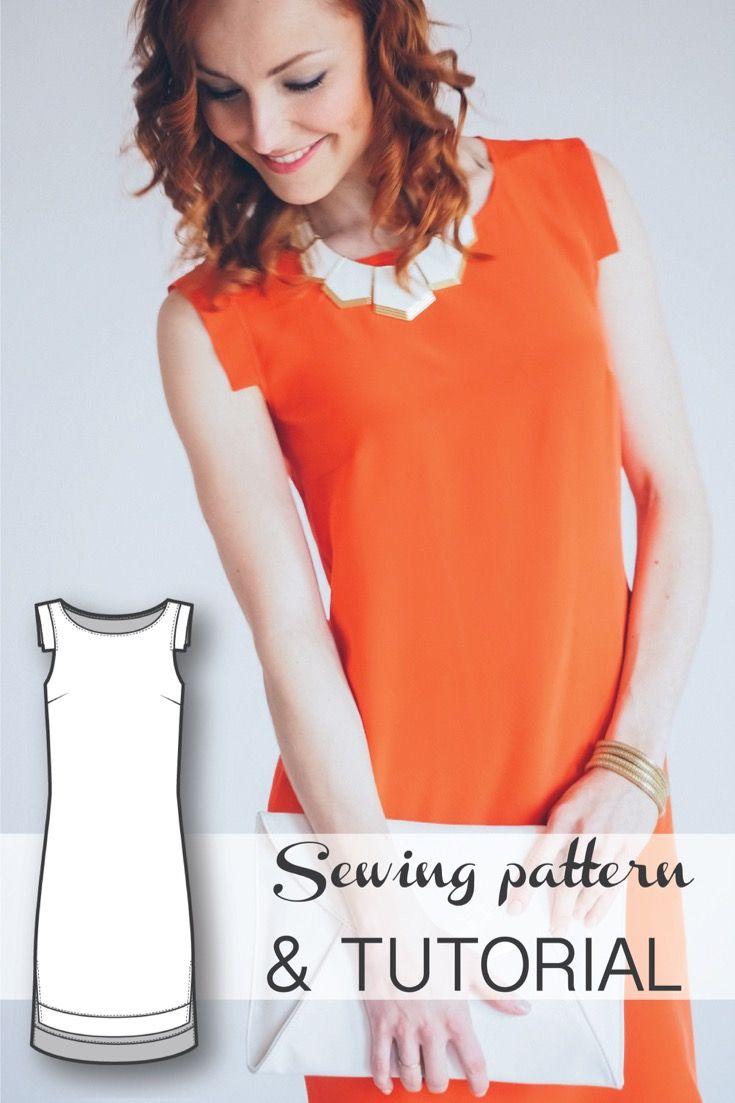 Shift dress pattern sewing pattern sewing patterns sleeve and