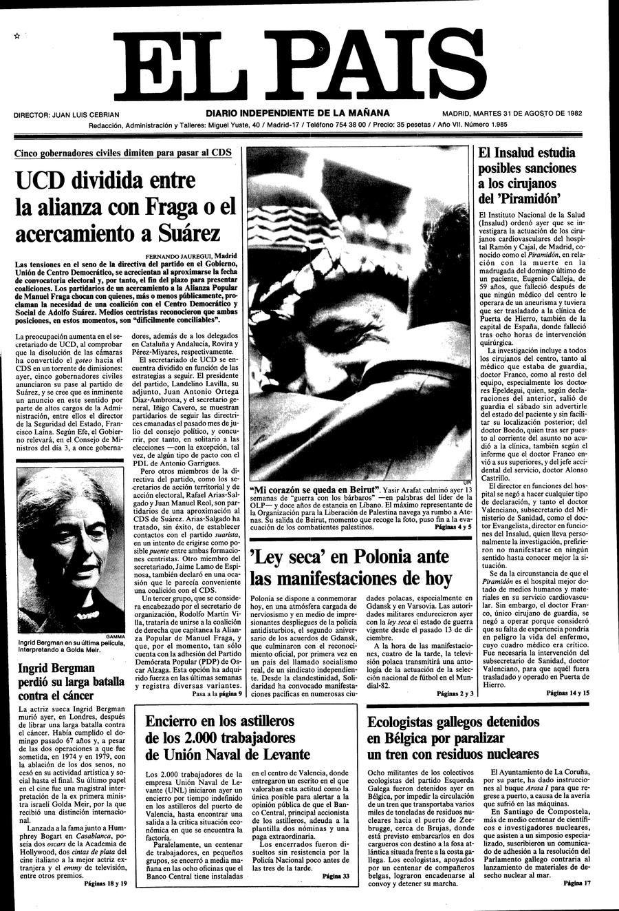 31 de Agosto de 1982