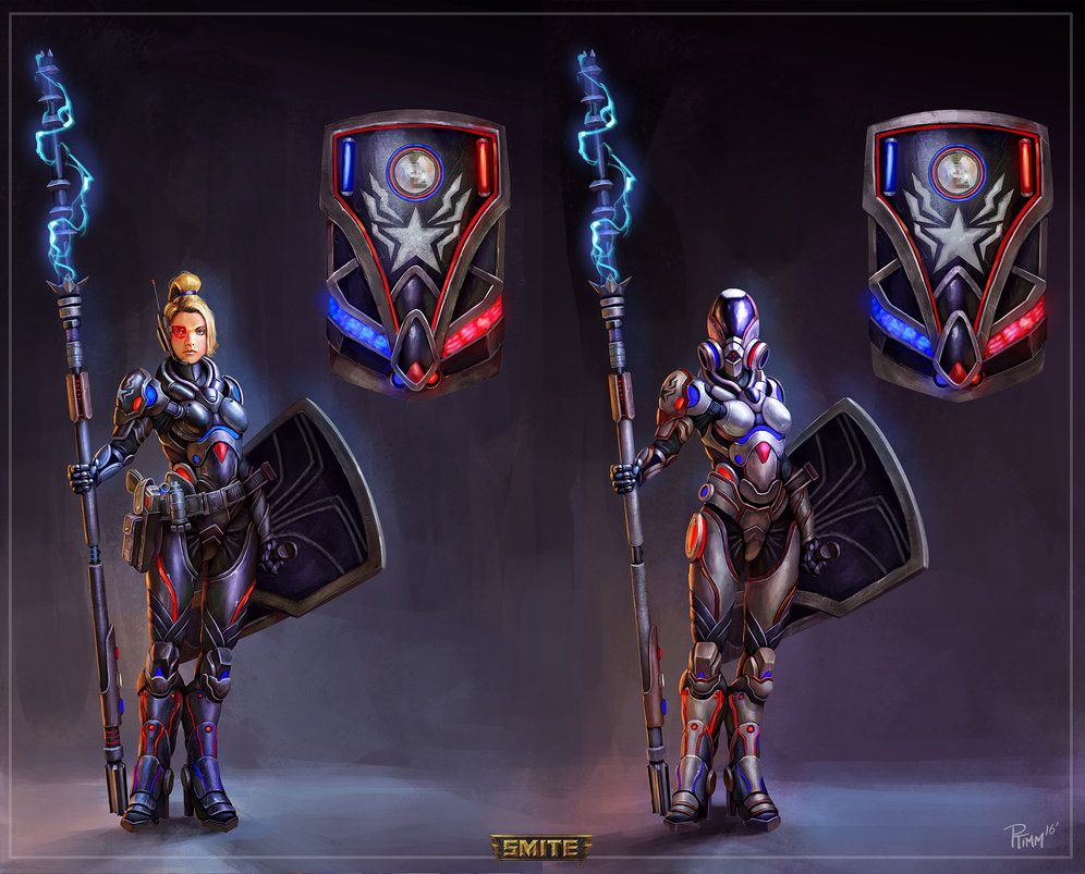 Peace Keeper And Enforcer Athena Concepts By Ptimm Deviantart Com